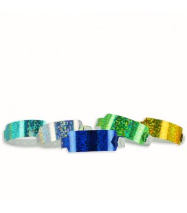 100 bracelets LASER larges vierges - Turquoise