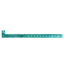 100 bracelets LASER minces vierges - Turquoise