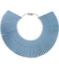 100 papillotes en collier bleues
