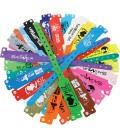 Bracelets événementiels vinyle larges