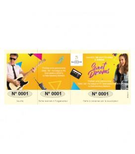 Carnet de tickets numérotés couleur