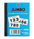 Carnet de tickets numérotés 2 parties
