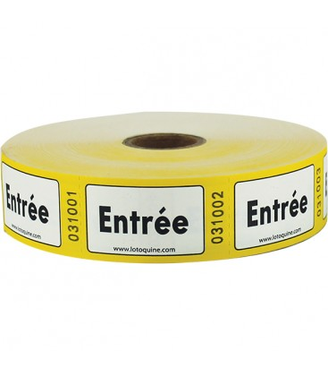 """Rouleau de 500 tickets """"Entrée"""""""