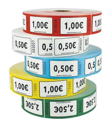 Rouleau de 1.000 tickets Valeurs €