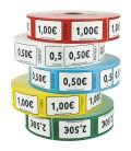 Rouleau de tickets valeur en euros
