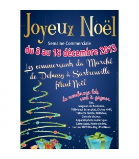 25 affiches personnalisées JOYEUX NOËL