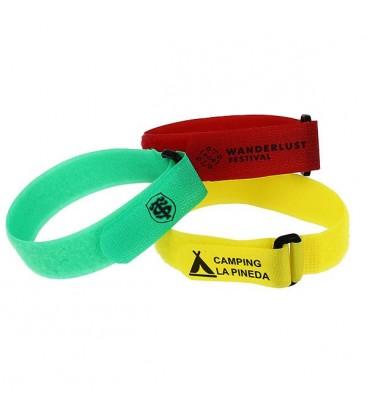 Bracelets d'identification sport et camping velcro
