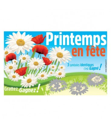 1.000 Tickets à gratter PRINTEMPS perdants