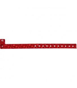 100 bracelets LASER minces vierges - Rouge
