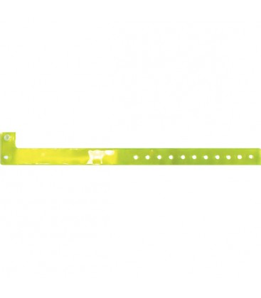 100 bracelets TRANSLUCIDES vierges - Jaune citron