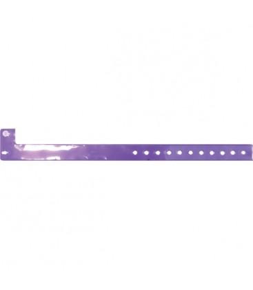100 bracelets TRANSLUCIDES vierges - Violette givrée