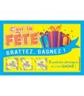 100 tickets à gratter C'EST LA FÊTE gagnants