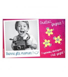"""100 tickets à gratter """"Bonne fête maman"""" gagnants"""