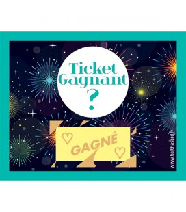 "Tickets à gratter TICKET GAGNANT ""gagnants 1 coeur"""