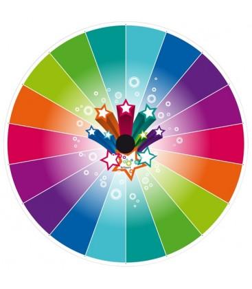 Fixation murale roue de loterie personnalisable caméléon