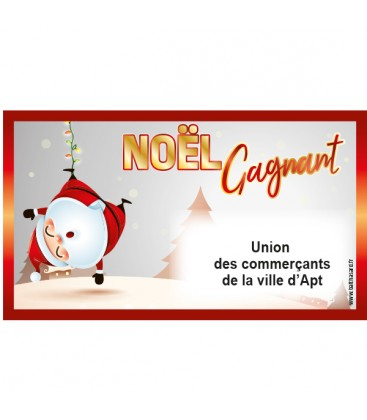 Tickets tombola noël gagnant