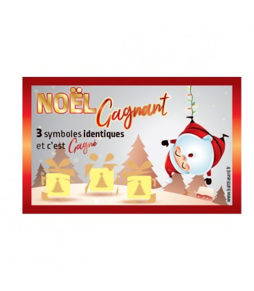 100 tickets NOEL GAGNANT gagnants