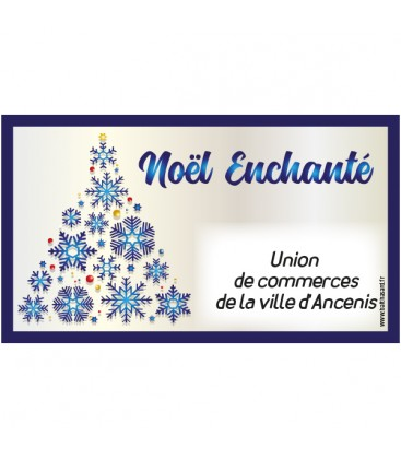 Tickets de tombola noël enchanté