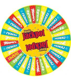 Grande roue de loterie sur pied Jackpot