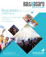 Plaquette Bracelets de contrôle et Billeterie