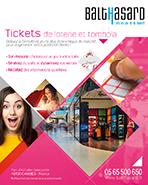 Plaquette Tickets de loterie et tombola